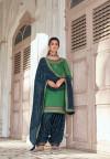 Green color jam silk cotton dress material
