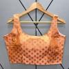 Bollywood heavy banarasi silk fusing pasting work ready made blouse