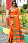 Soft art silk weaving saree with zari woven work