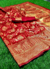 Soft banarasi silk saree with designer rich pallu