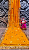 Chiffon two tone silk saree with embroidered work