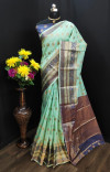 Soft banarasi silk saree with golden zari work
