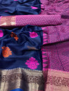 Emboss silk saree