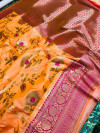 Kanchipuram handloom silk saree with zari work