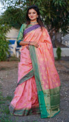 Soft banarasi silk saree with zari weaving border