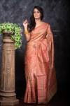 Tussar silk weaving saree with rich pallu