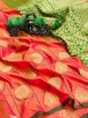 Soft silk saree with zari weaving work