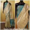 Chanderi cotton saree with zari weaving border and pallu