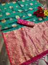 Soft & Pure cotton silk saree with pure gold zari work