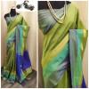 Raw silk saree with khadi weaving pallu