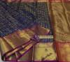 Kanchipuram handloom silk saree with contrast rich pallu