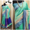 Raw silk saree with khadi weaving pallu