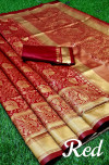 Soft banarasi silk saree with rich pallu