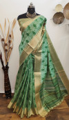 Aasam silk kotki printed saree with zari woven work