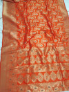 Banarasi silk weaving saree with zari woven border and pallu