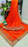 Dola silk saree with embroidered work