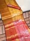 Soft kanchipuram silk pattu saree with zari woven border