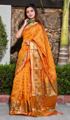 Patola silk jacquard weaving saree