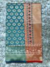 Pure lichi soft silk saree with zari weaving rich pallu
