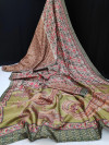 Soft silk saree with embroidered work