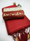 Chanderi cotton saree with two blouse piece