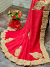 Soft two tone silk saree with woven work