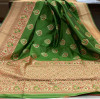 Banarasi silk weaving meenakari saree