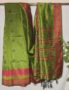 Handloom raw silk weaving saree
