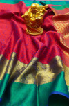 Emboss silk saree