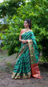 Soft silk saree with woven work