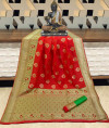 Banarasi silk weaving meenakari saree