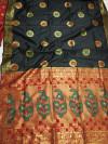 Banarasi silk paithani style saree with rich pallu
