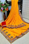 Dola silk saree with embroidered work