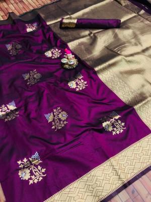 Kanchipuram silk handloom saree with zari woven work