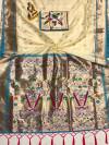 Cream color paithani silk saree with weaving work