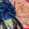 Firoji color banarasi silk saree with gold zari weaving work