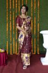 Coffee color paithani silk saree with zari weaving work