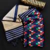 Navy blue color kadampalli tussar silk saree with zari woven work