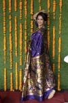 Purple color paithani silk saree with zari weaving work