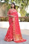 Banarasi soft silk saree with weaving work