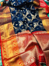 Kanchipuram handloom weaving silk saree with zari woven work