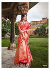 Soft banarasi silk saree with rich pallu