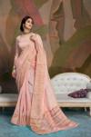 Linen Weaving silk saree