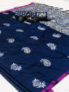 Soft silk weaving saree with rich pallu