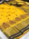 Cotton saree with jacquard border and rich pallu