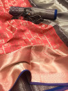 Lichi silk saree with weaving work