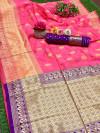 Soft banarasi silk saree with weaving rich pallu