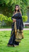Soft cotton silk saree with jacquard weaving buttis
