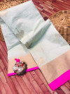 Linen cotton silk saree