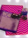 Kanchipuram weaving silk saree with zari work